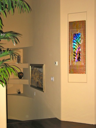 Installations art architectural glass for residential for Architectural glass art